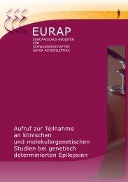 Teilnahme an klinischen und molekulargenetischen Studien ... - eurap
