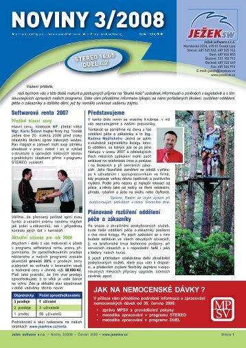 Noviny 3/2008 - Ježek software