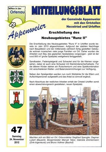 Mitteilungsblatt - Appenweier