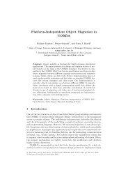 Platform-Independent Object Migration in CORBA - CiteSeerX