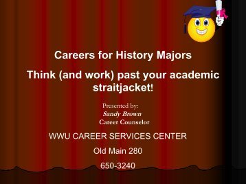 History Majors Workshop - Careers - Western Washington University