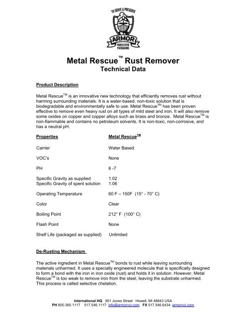 Metal Rescue Rust Remover Bath Tech Data Sheet.pdf