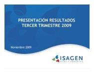 Presentación de resultados - Isagen