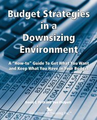 Budget Strategies in a Downsizing Environment - Government ...