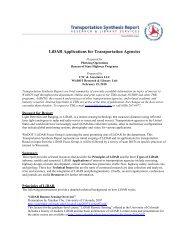 LiDAR Applications for Transportation Agencies - WisDOT Research