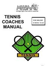 Coaches Manual - Michigan High School Athletic Association