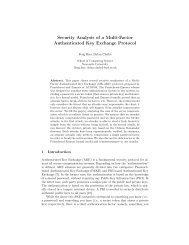 Security Analysis of a Multi-Factor Authenticated Key Exchange ...