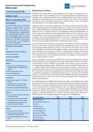 Zusammenfassung des Ratingberichtes RENA GmbH 2010 101130