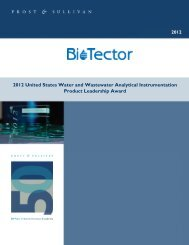 2012 United States Water and Wastewater Analytical ... - Biotector