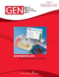 2008 Media Kit - Genetic Engineering News