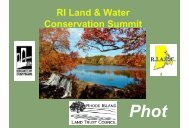 RI Land & Water Conservation Summit - Rhode Island Land and ...