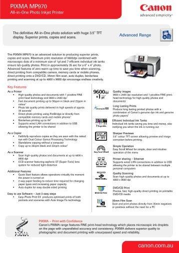 PIXMA MP970 canon.com.au - Officeworks