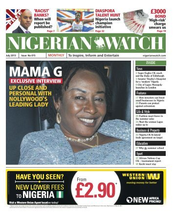 July 2013 Publication - Nigerian Watch