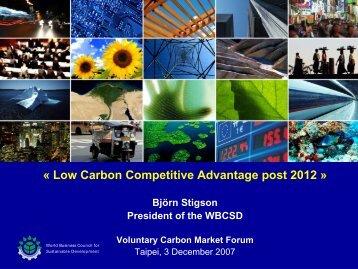 Low Carbon Competitive Advantage post 2012 » Björn Stigson ...