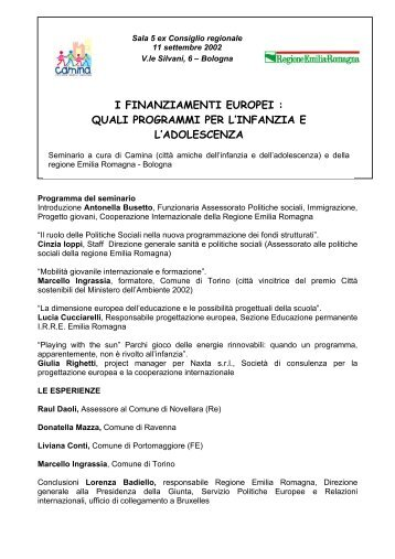 I FINANZIAMENTI EUROPEI : QUALI ... - Regione Molise