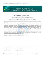 PLANTIBODY - Asian Journal of Pharmacy and Life Science