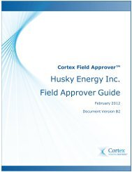 Cortex Field Approver - Cortex Business Solutions Inc. - Page