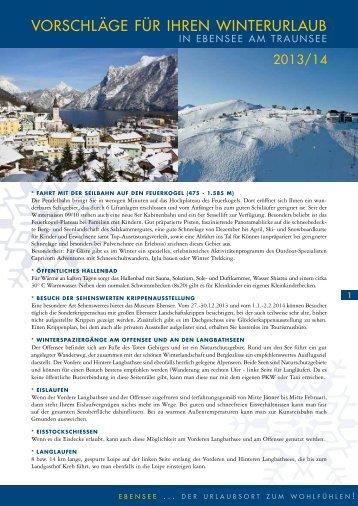 Wintervorschläge Ebensee - Traunsee - Salzkammergut