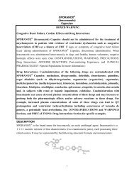 SPORANOX - Janssen Pharmaceuticals, Inc.