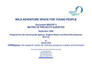 wild adventure space for young people - OPENspace Research ...