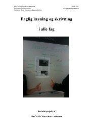 Faglig læsning og skrivning i alle fag - Viden om Læsning