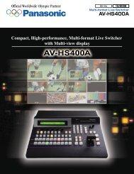 Panasonic AV-HS400A Multi Format Live Switcher