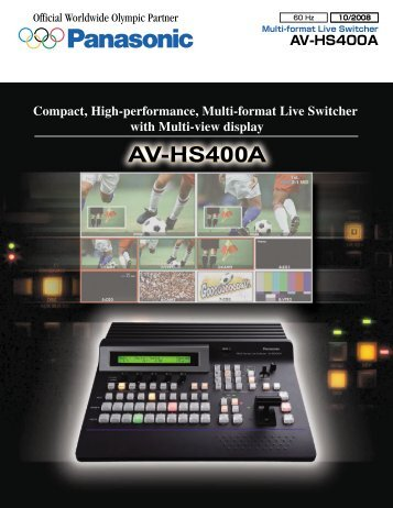 manual panasonic av hs410