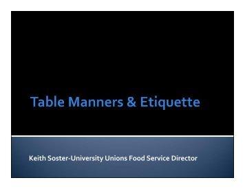Keith Soster-University Unions Food Service Director - International ...