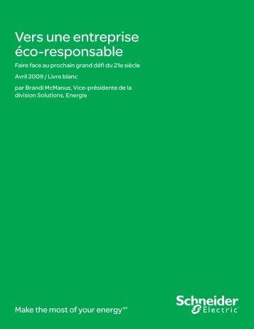 Vers une entreprise éco-responsable - Schneider Electric