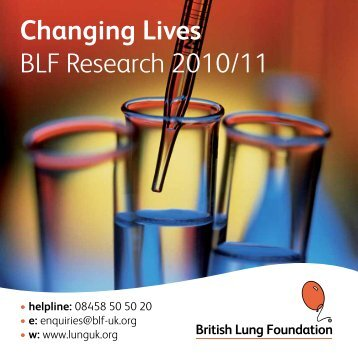 Changing lives 2010-2011 - British Lung Foundation