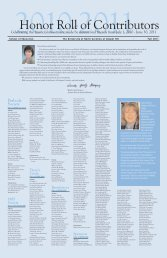 2010-2011 Honor Roll of Contributors - School of Education ...