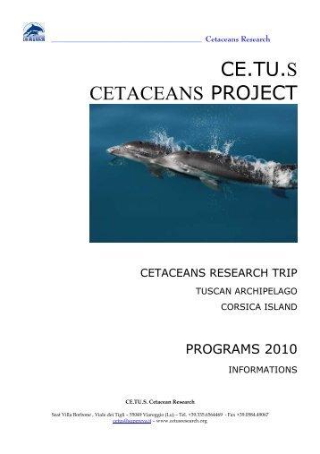 CE.TU.S CETACEANS PROJECT - Turismo in Toscana