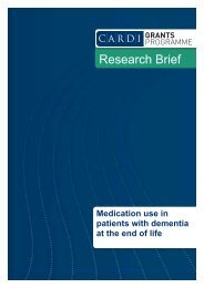 Medication use in patients with dementia at the end of life - CARDI
