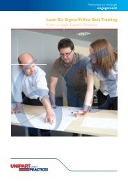 Lean Six Sigma Yellow Belt Training from Unipart ... - Unipart Logistics