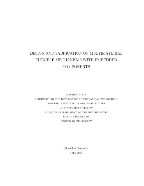 design and fabrication of multimaterial flexible mechanisms with ...
