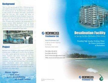 spring garden desalination plant, barbados
