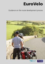 Guidance on the route development process - Eurovelo