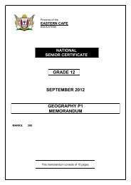 GRADE 12 SEPTEMBER 2012 GEOGRAPHY P1 ... - Ecexams.co.za