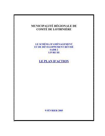 Le plan d'action - MRC Lotbinière