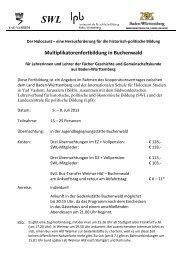 Multiplikatorenfortbildung in Buchenwald - SWL