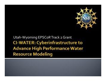 CI-WATER Project Update - Utah EPSCoR