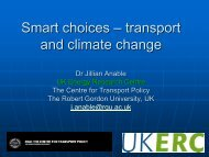 Smart choices – transport and climate change - Institute for ...
