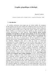 Graphie, géopolitique et idéologie - Manioc