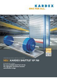 NEU | KARDEX SHUTTLE® XP 700