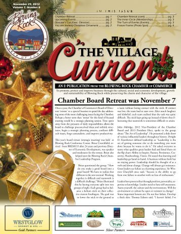 November 29 , 2012 - Blowing Rock Chamber of Commerce