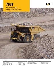 Caractéristiques du Tombereau pour applications minières 793F
