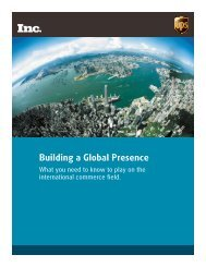 Building a Global Presence - Inc.com