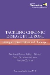 Tackling chronic disease in Europe