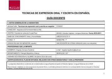 Técnicas de expresión oral y escrita en español