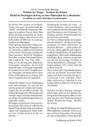 Weisheit der Waage - Joachim Kahl, Marburg